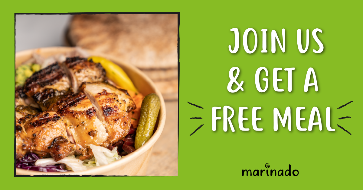 Create an account and get a coupon for 1 free meal! (Yes, you read that correctly)